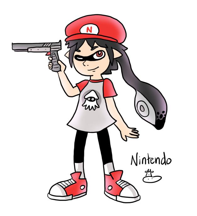 FANART - Inkling Nintendo by HapyCow